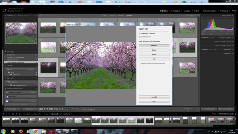 La primavera con Lightroom